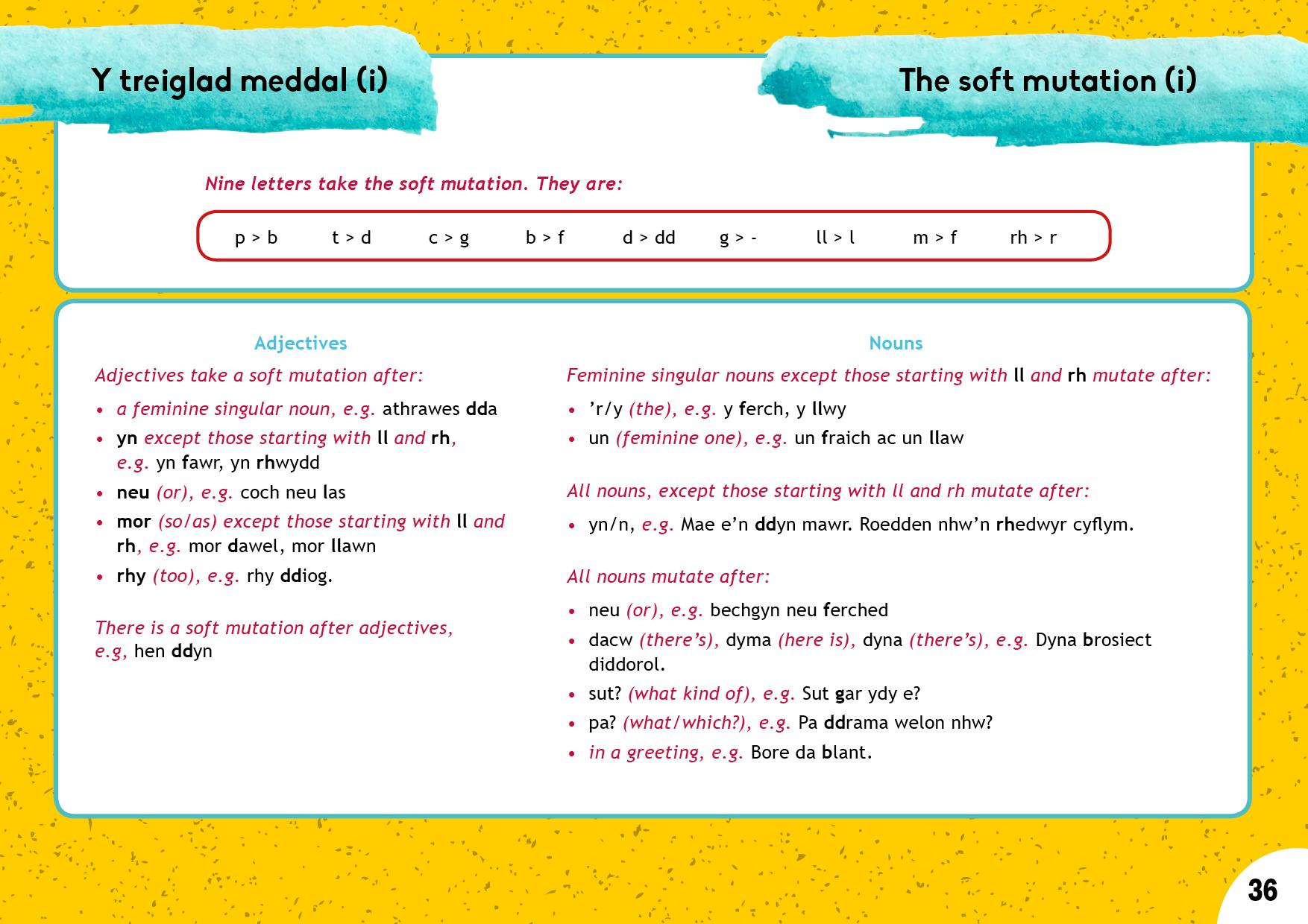 Y treiglad meddal (i) | The soft mutation (i)