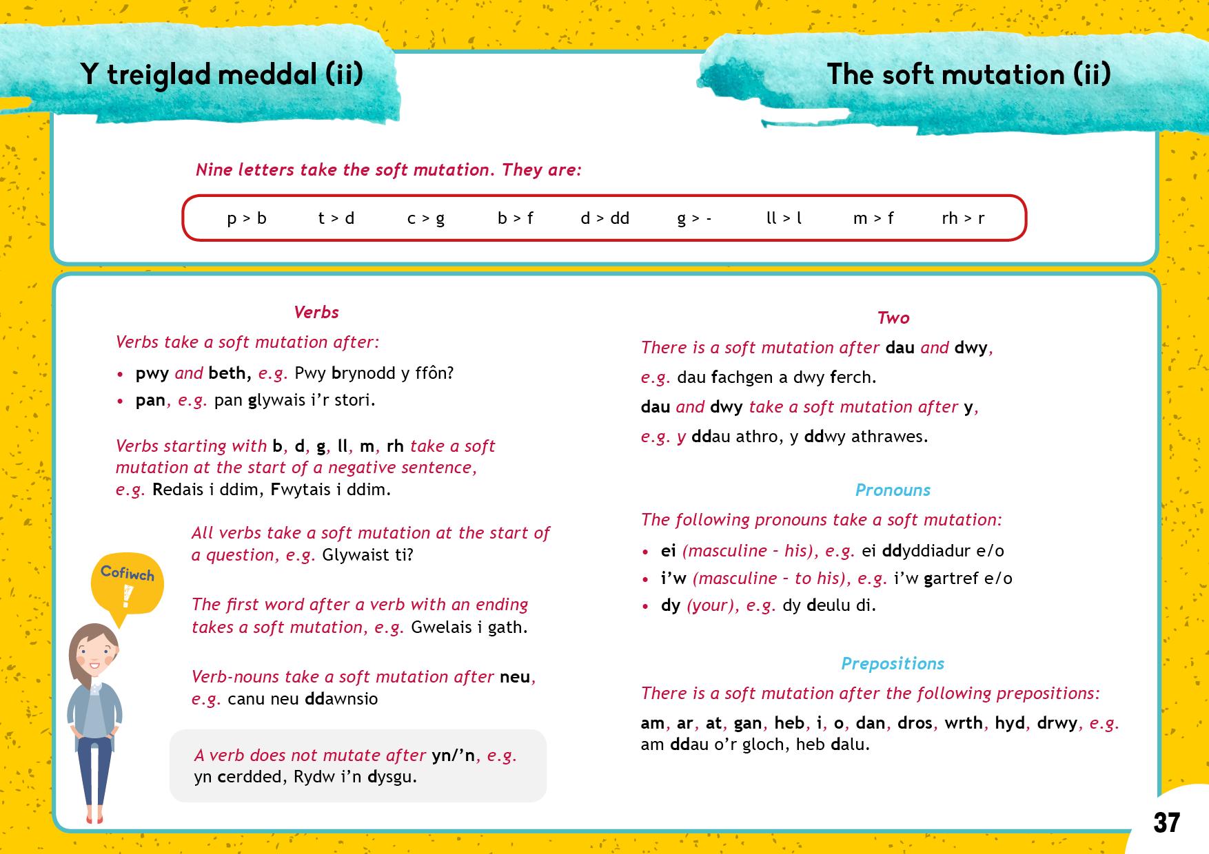 Y treiglad meddal (ii) | The soft mutation (ii)