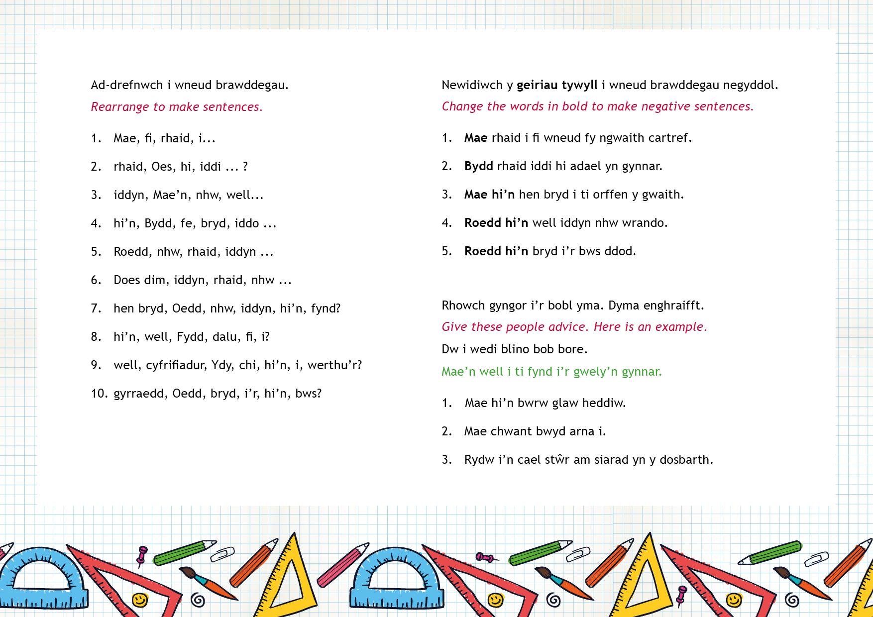 Patrymau idiomatig (ii) | Idiomatic patterns (ii)