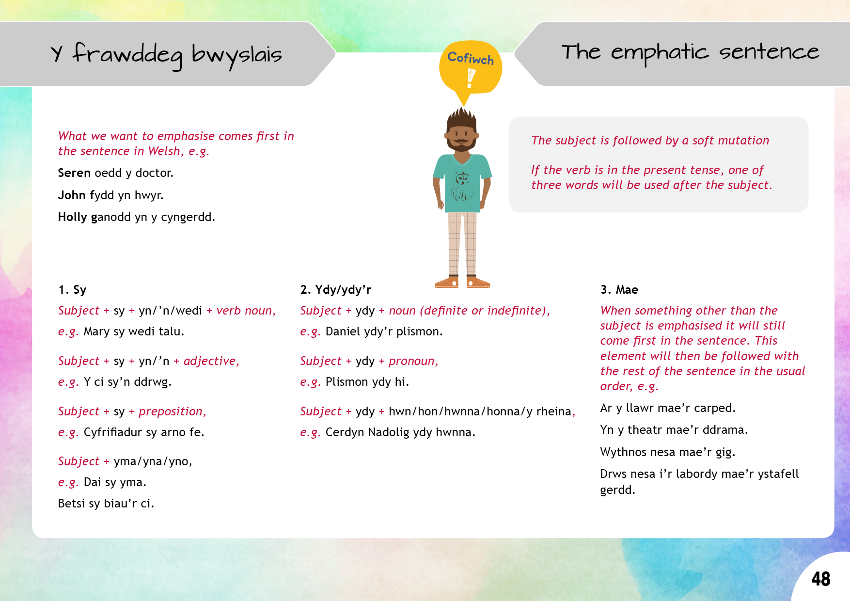 Y frawddeg bwyslais | The emphatic sentence